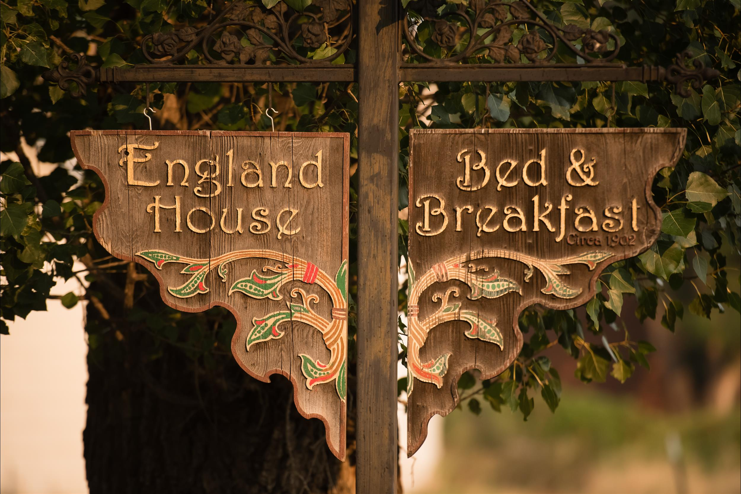 England House Sign